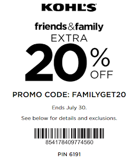 Kohls Yes pass coupon 20% OFF any order