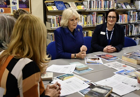 Duchess visited the Max Spielmann Academy and Maggie's at the Royal Marsden Hospital, the cancer charity's latest centre