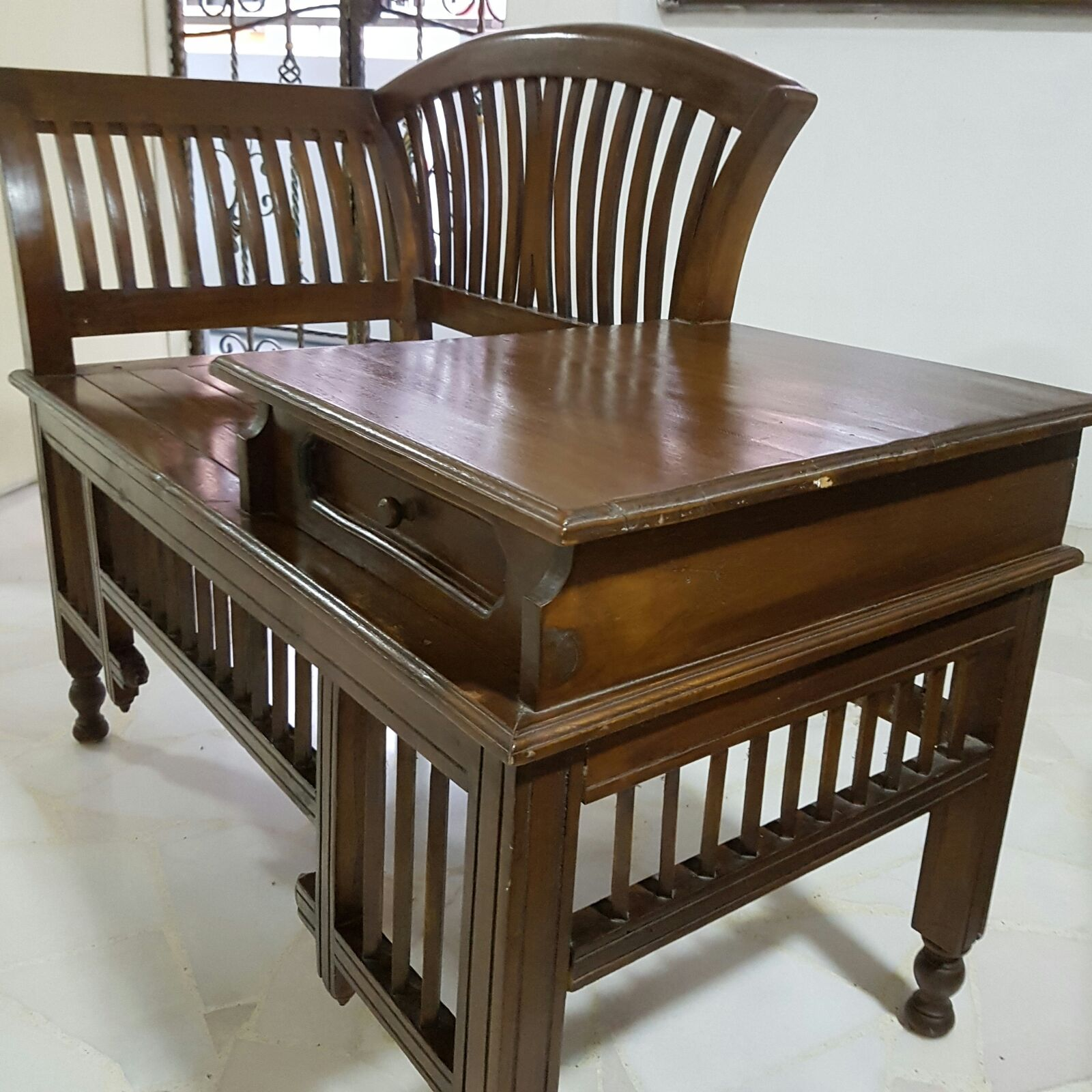 Only serious buyers further markdown bench with small for Table markdown