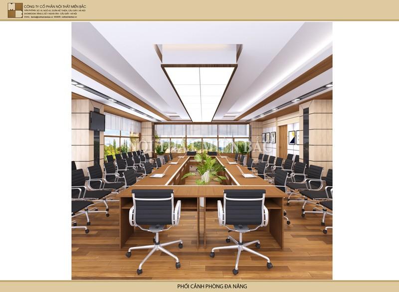 Thiết kế nội thất phòng họp đẹp không gian mở