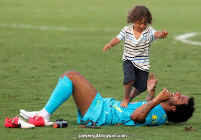 Marcelo Vieira and his son