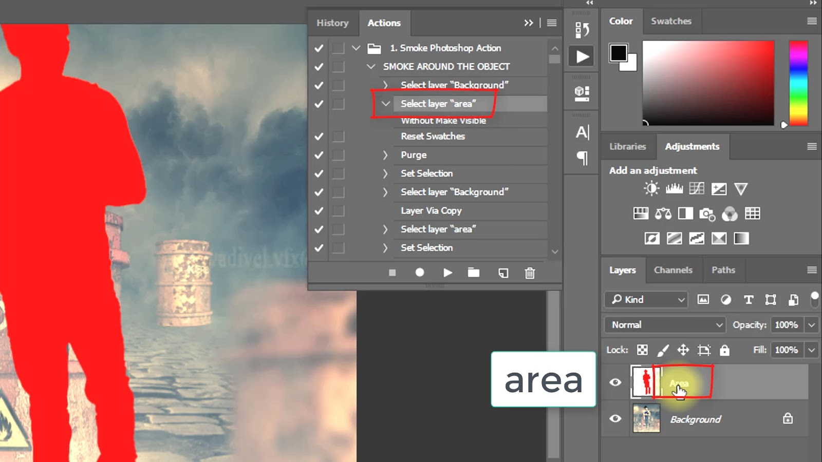 How to animate Smoke Photoshop actions Screenshot 2