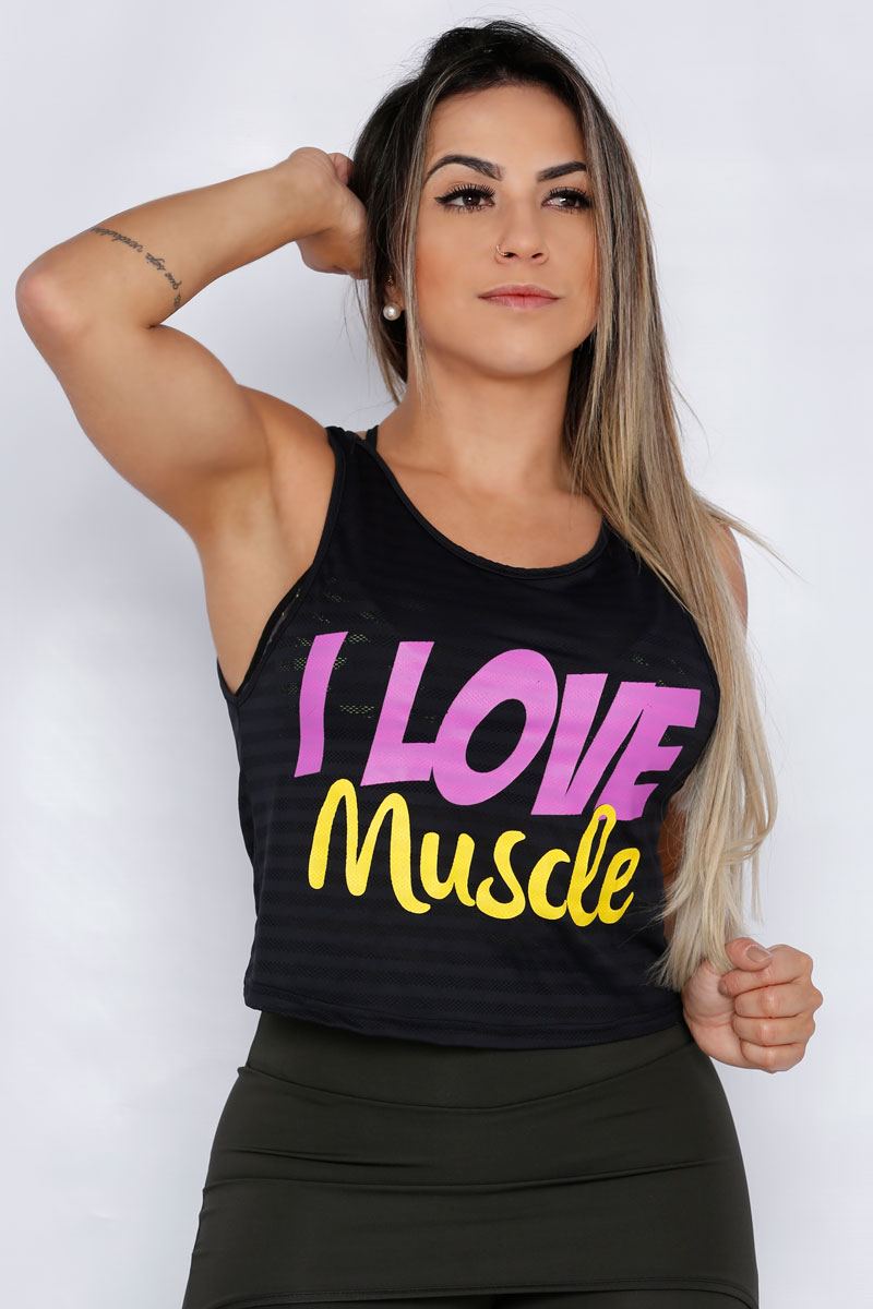 Regata Fitness Feminina - I love Muscle