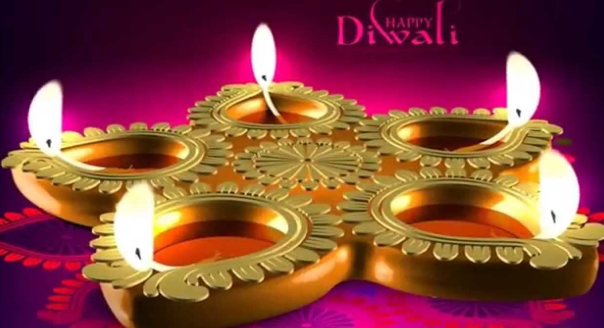 Four diyas images for happy diwali 2018