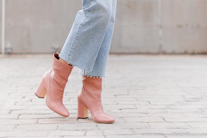 Botines rosas / Pink Ankle Boots : modelo GEM en color rosa de AGL