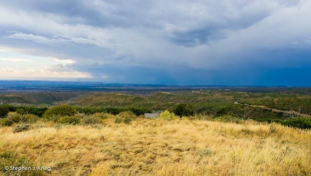 Clearing rain storm, Mesa Verde National Park, Colorado.