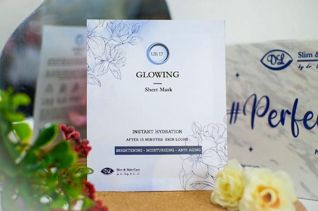 glowing sheet mask dl slim & skin care