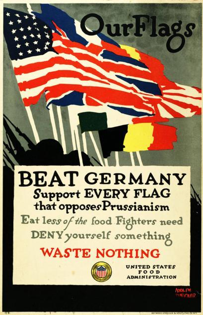 Propaganda anti-alemana duranta la Primera Guerra Mundial