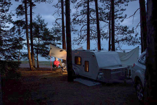Tiny Trailer Camping, Lake Superior Provincial Park