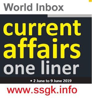 WORLD INBOX CURRENT AFFAIR (02 JUNE TO 09 JUNE)