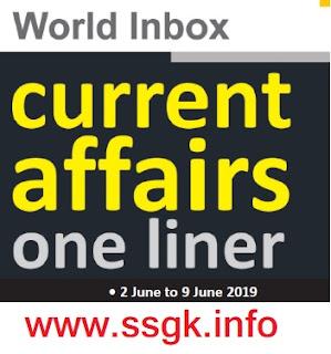 WORLD INBOX CURRENT AFFAIR (02 JUNE TO 09 JUNE)