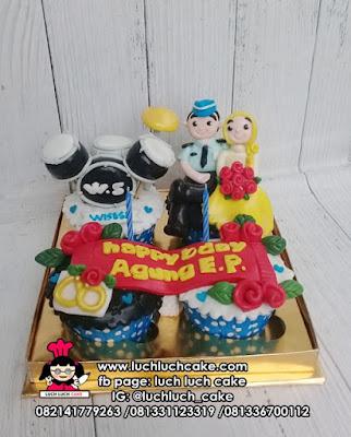 Cupcake Ulang Tahun Tema Drum