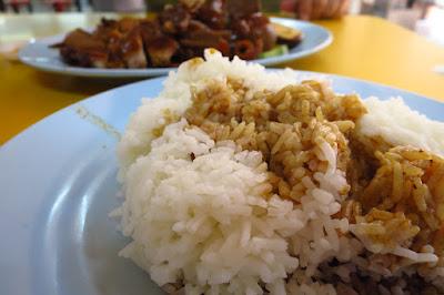 Lek Kee Authentic Teochew Braised Duck (陸記正宗潮洲鹵鸭), rice