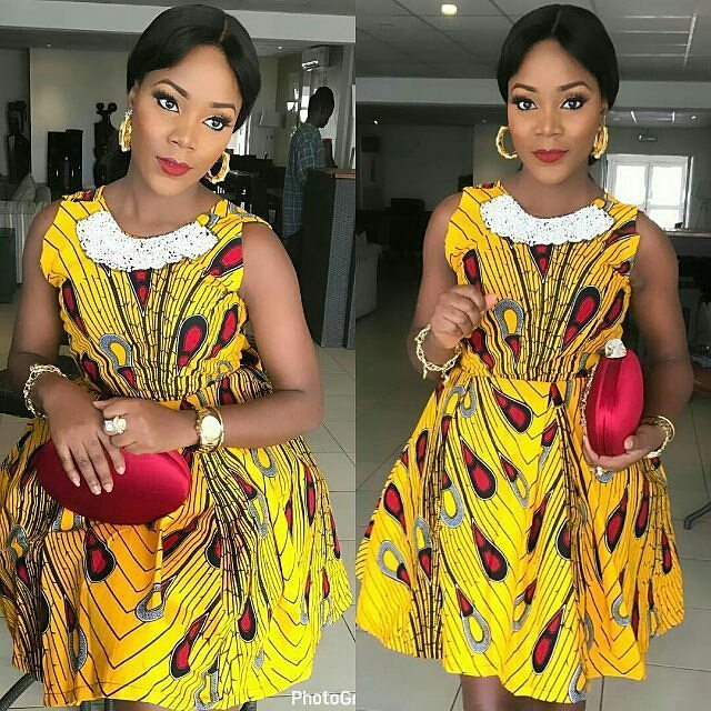 Simple Stylish Ankara Short Gowns for Lovely Ladies - Zaineey\'s Blog