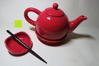 Übersicht: Porzellan Teekannenservice von Original First Tea (Rot)