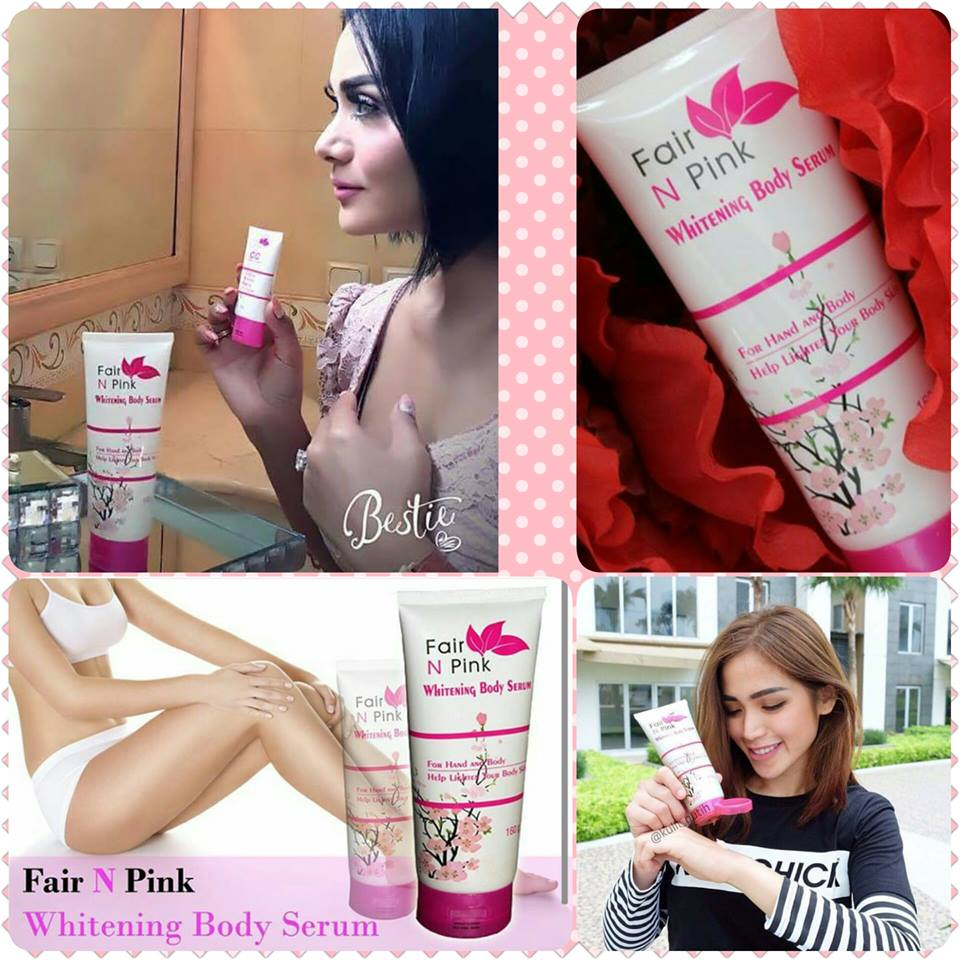 Fair N Pink Whitening Body Lotion Serum 160ml Original Pemutih Badan