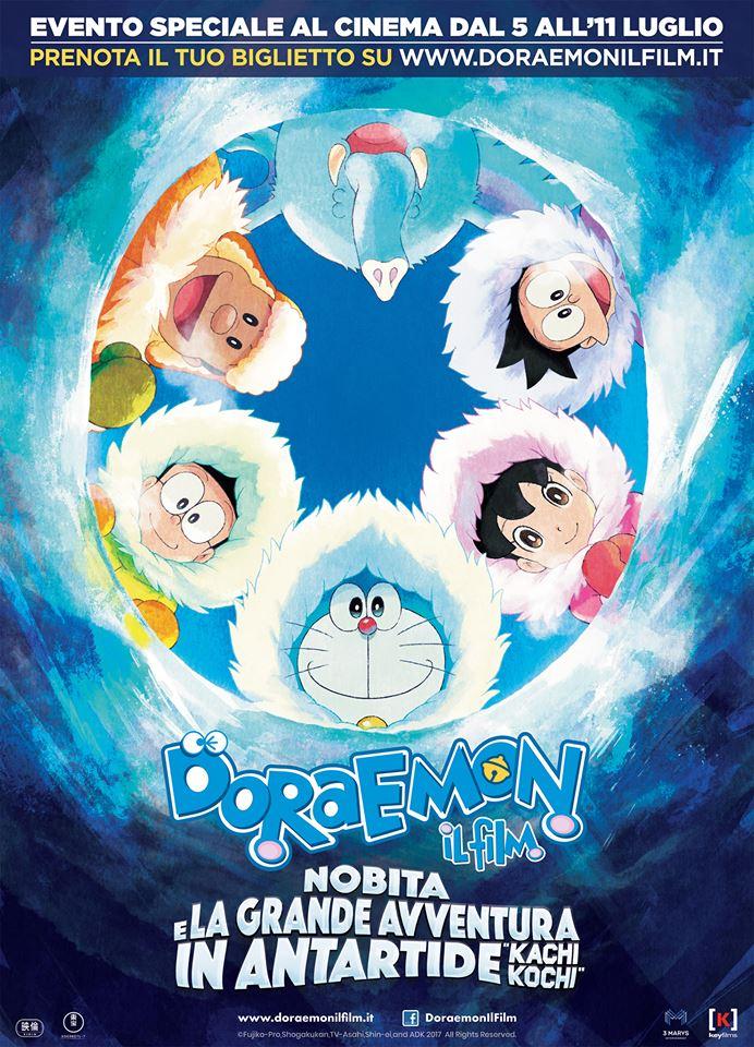 Doraemon il film: Nobita e la grande avventura in Antartide, evento speciale dal 5 all'11 luglio al cinema!