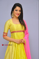 Actress Richa Panai Latest Pos in Yellow Anarkal Dress at Rakshaka Bhatudu Telugu Movie Audio Launch Event  0004.JPG