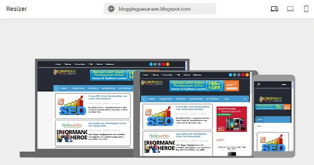 Cara Test Blog Responsive atau Belum