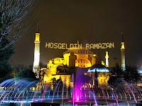 Hoş geldin Ramazan Mahya Ayasofya Camii