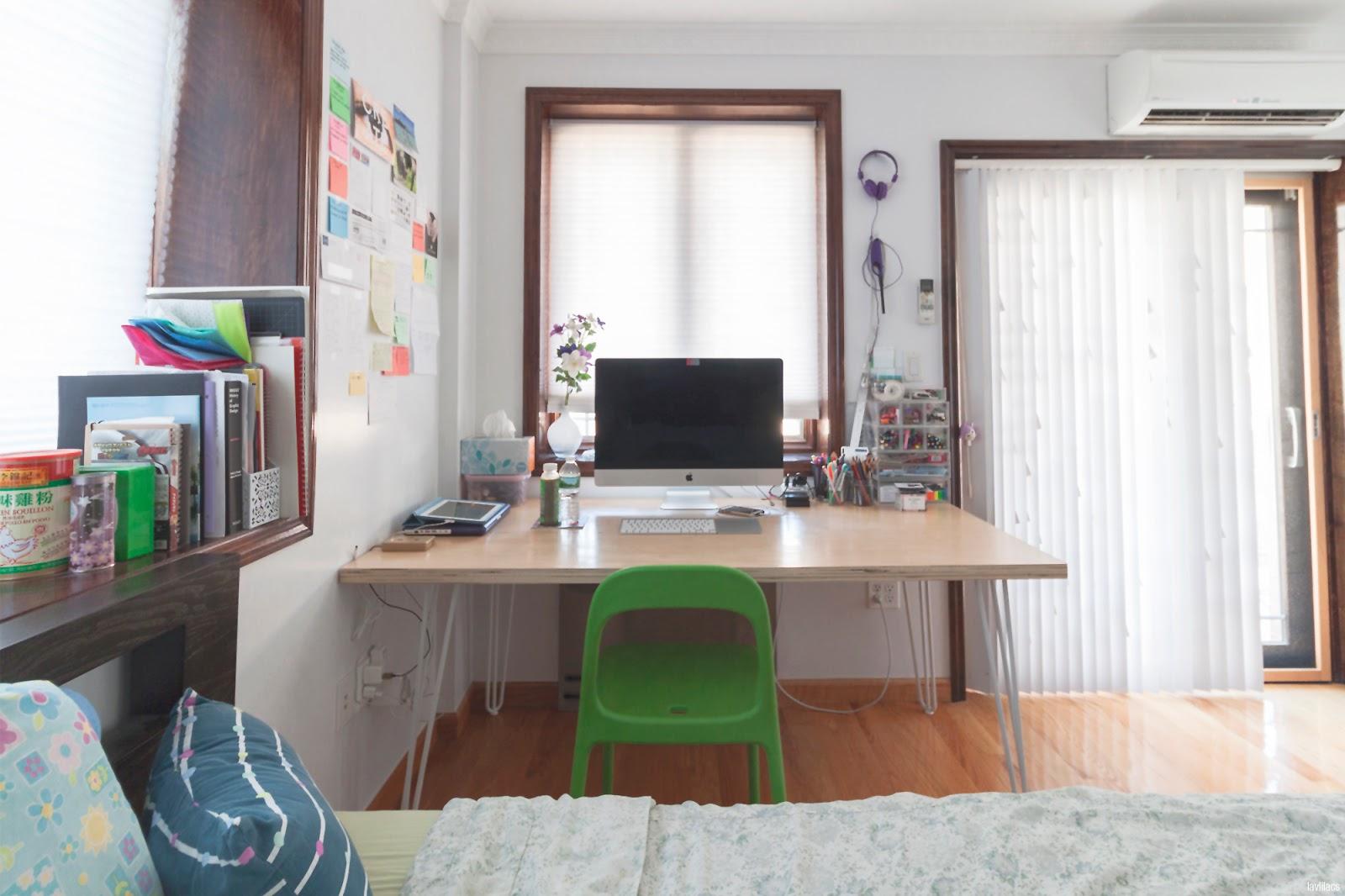lavlilacs Custom Hairpin Desk