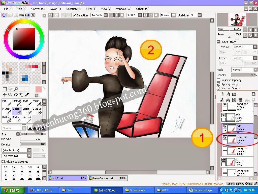 Hướng dẫn vẽ Chi bi bằng Paint tool SAI