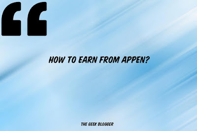How to earn from Appen?