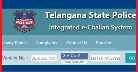 Check Telangana RTO eChallan/Penalty on Your Vehicle Number