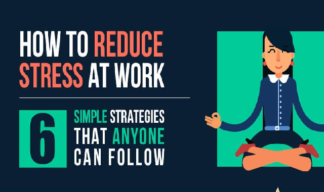 How To Reduce Stress at Work #infographic