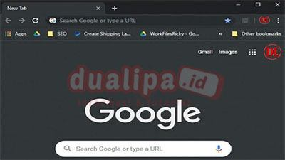 Dark mode google search desktop uji coba