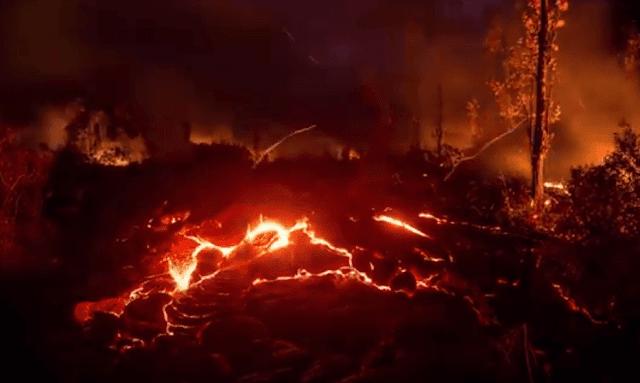 انفجارات قوى الصخور المنصهرة