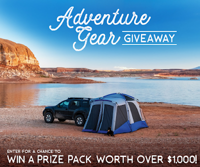 Napier Outdoors, Tailwind Nutrition, Outdoor Element and others want to get you set up for lots of outdoor family fun! Enter to win $1000 worth of outdoor equipment!