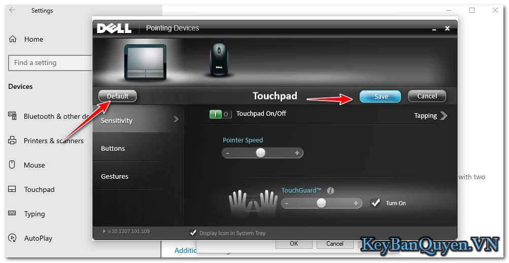 Hướng dẫn cài đặt Touchpad ( bàn di chuột ) về mặc định trong Windows 10.