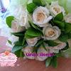 Bunga Tangan Mawar Putih Import + Daun Ruskus