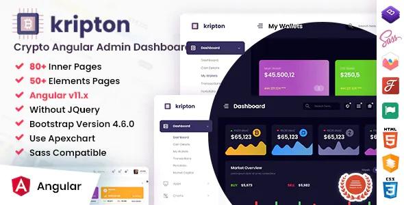 Best Crypto Admin Angular Dashboard Template