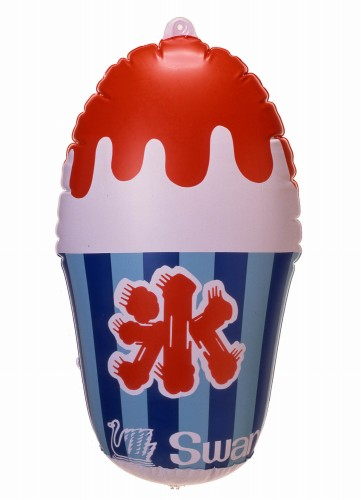 Swan鵝牌極致鵝絨日式刨冰 日式刨冰機 雪花冰機 Swan鵝牌原廠抗UV、可注水招牌氣球|長期烈日曝曬仍保有色澤 質地耐用度遠高於hatsuyuki 初雪-Swan-Kakigori-product-UV-protectd-balloon