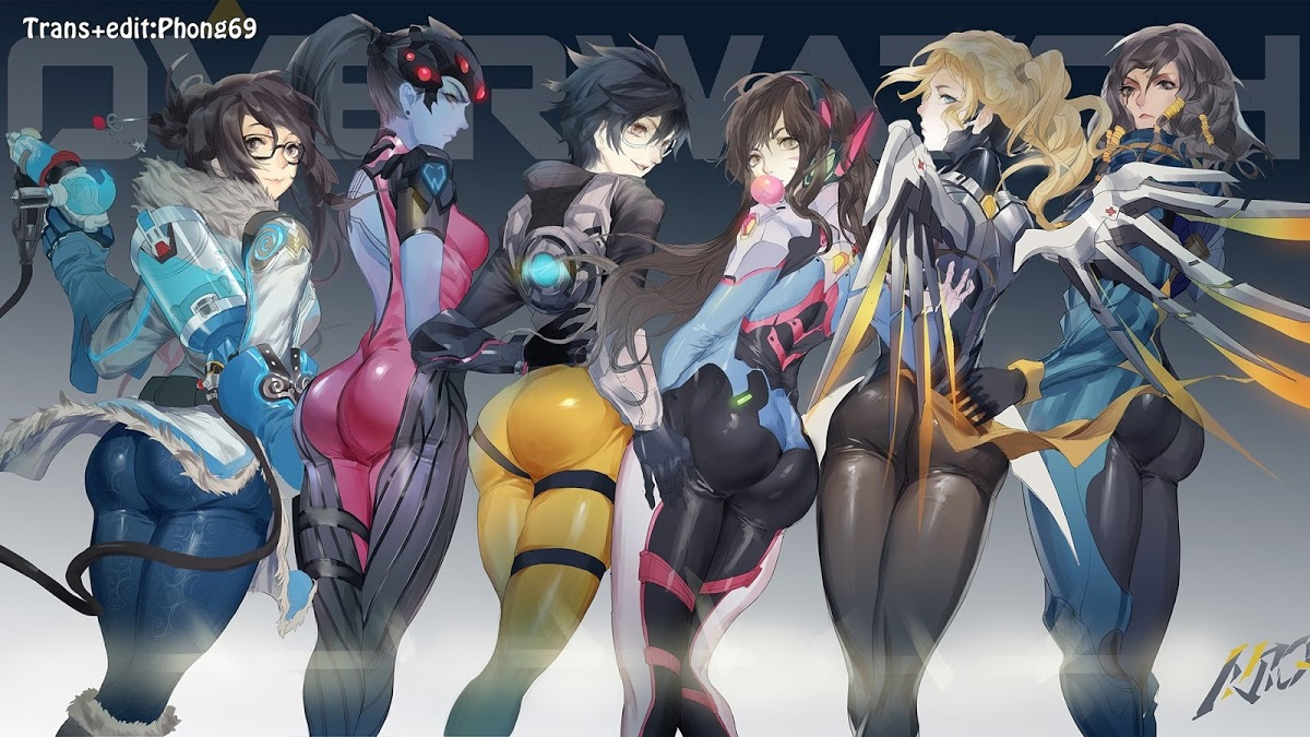 Hình ảnh overwatch girls mei widowmaker tracer dva mercy and pharah %2528641%2529 in Sharing a Roof with a Younger Girl