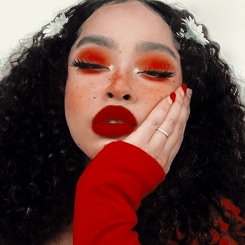 Maquillaje aesthetic rojo