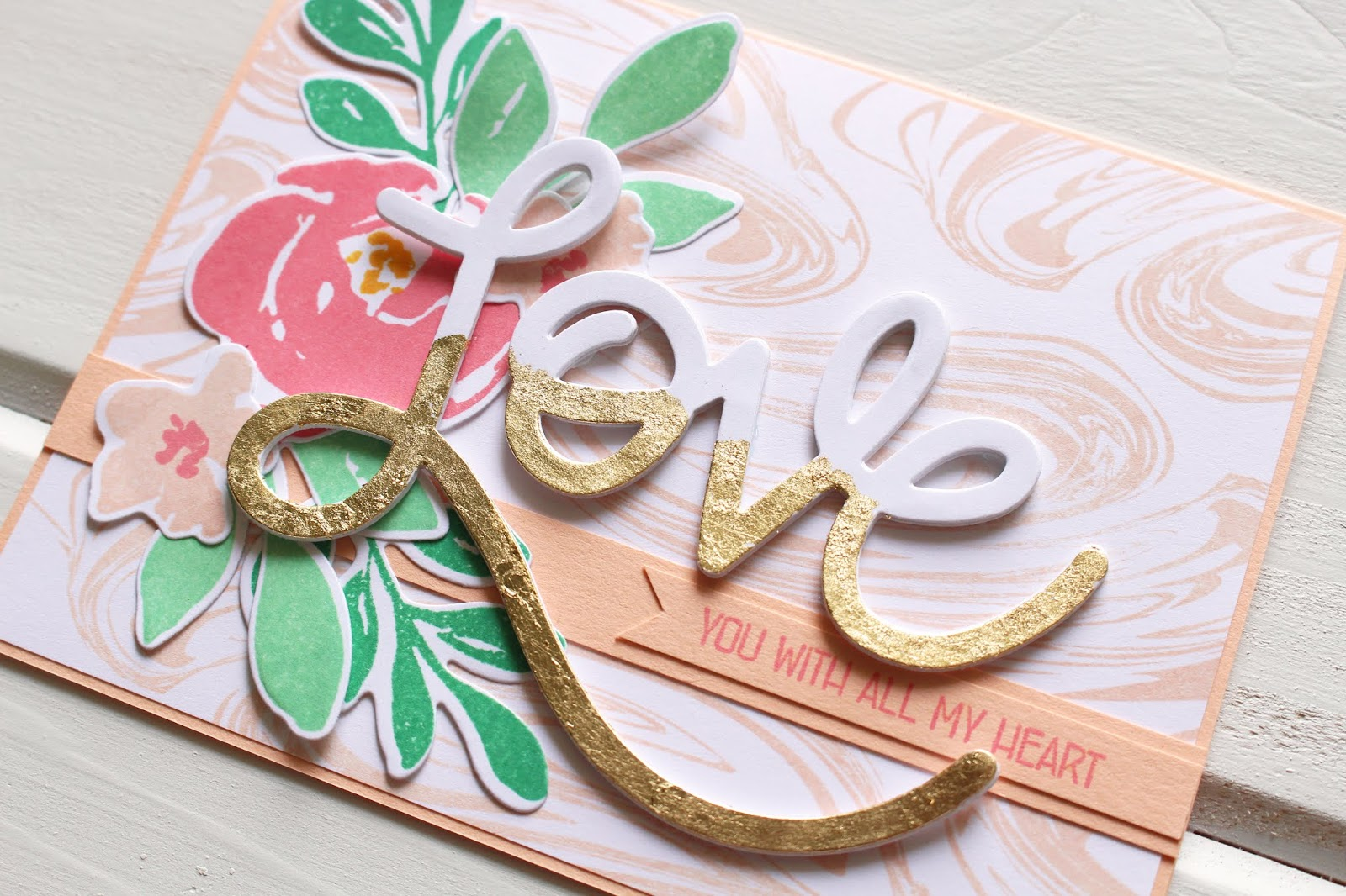 Introducing Love Word Die And With All My Heart Stamp Set