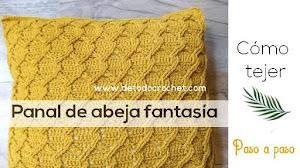 Cómo tejer PUNTO PANAL DE ABEJAS fantasía ✔️ Tutorial Crochet