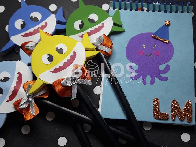 ideias simples para festa baby shark