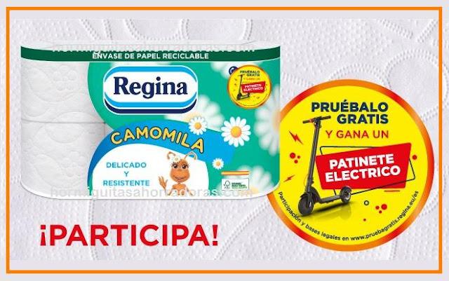 Papel higiénico Regina Camomila: pruébalo gratis y gana un patinete