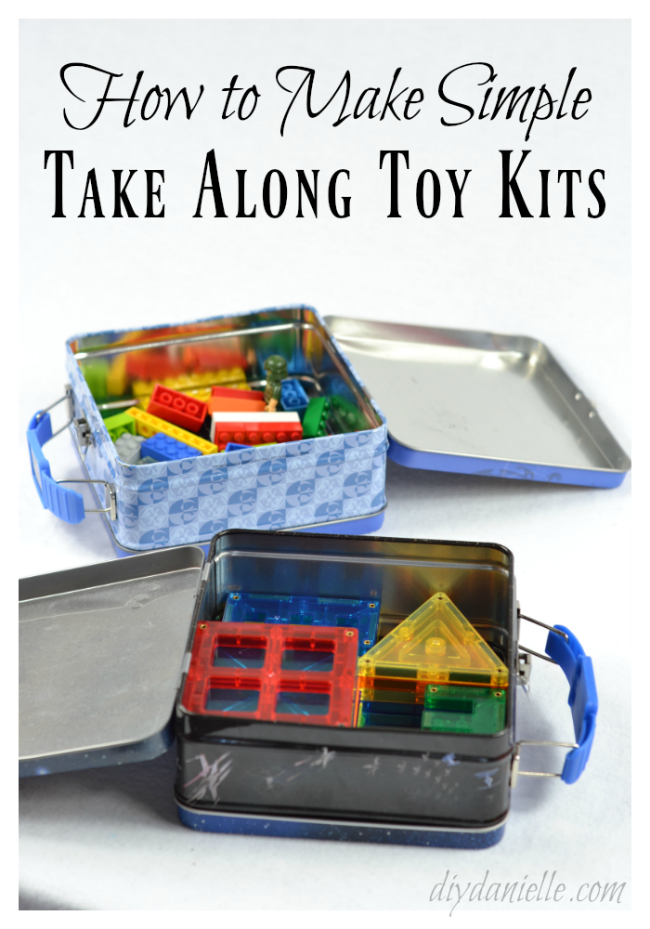 How to Make a Lego Take Along Kit and a Magnatile Take Along Kit