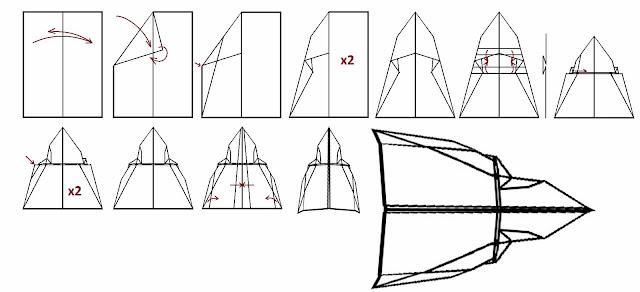 Avión de papel Wing 36
