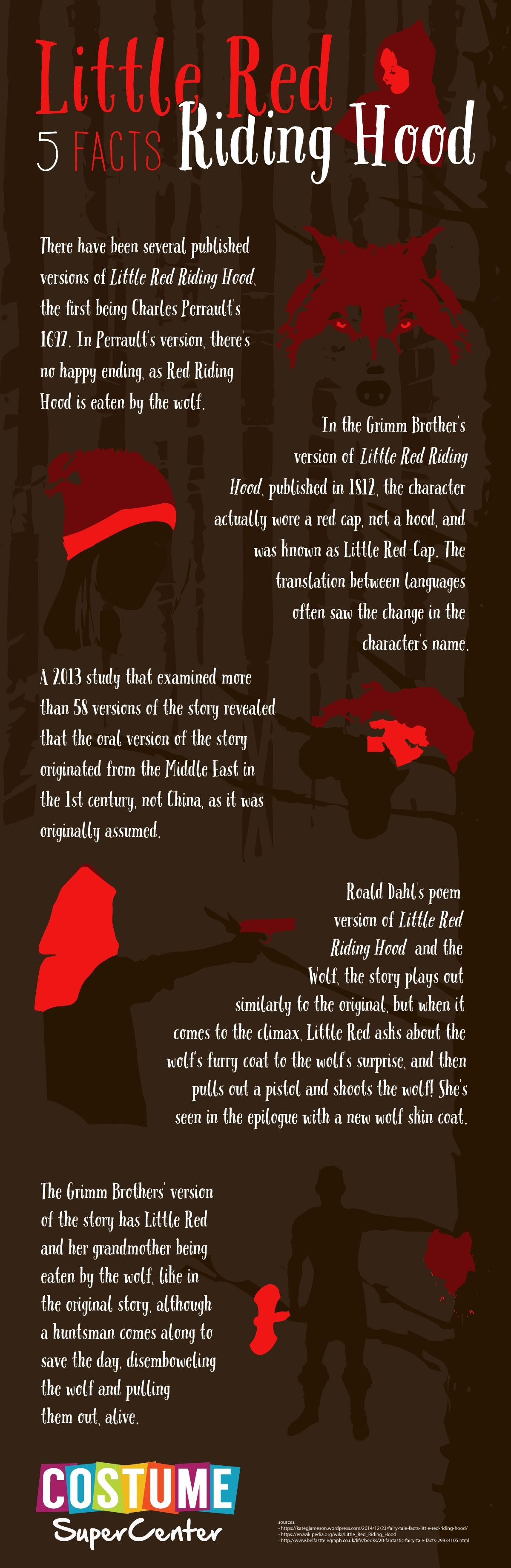 Little Red 5 Facts Riding Hood #infographic