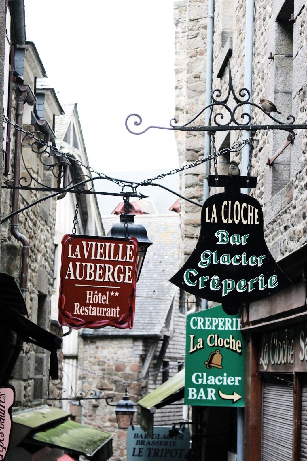Mont Saint Michel Signs in Mid Season
