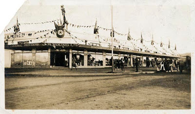 J. B. Youngs, Kingston, decorated for the visit of the Duchess of York in May 1927.  Source: #008041, Images ACT