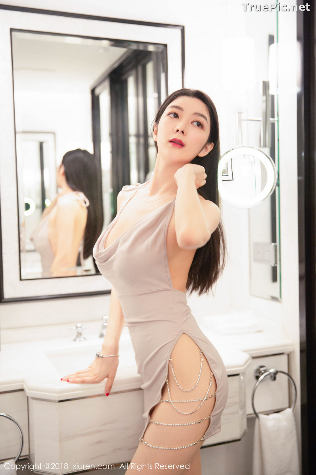 Image XIUREN No.1141 - Chinese Model - Xiao Reba (Angela小热巴) - Sexy Dress Tonight - TruePic.net - Picture-25