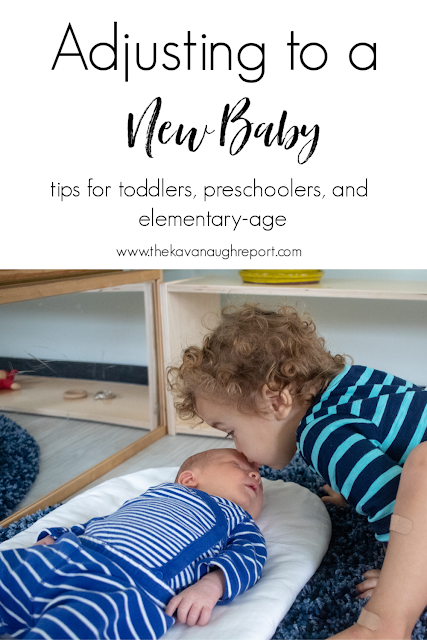 Tips to help your toddler, preschooler, and elementary children adjust to a new baby at home