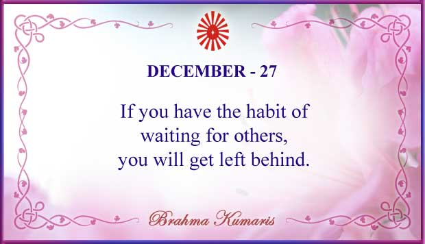 Thought For The Day December 27